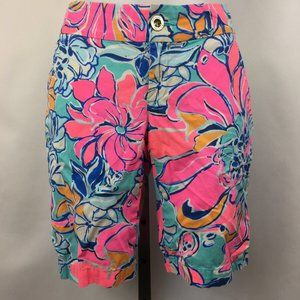 Lilly Puliltzer Pink Chipper Shorts Size 0